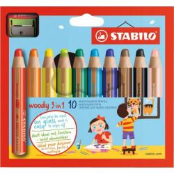Pastelko-vodovko-voskovky STABILO Woody 3 in 1 pro nejmenší