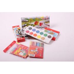 Rekomendowany zestaw przyborów plastycznych do szkoły